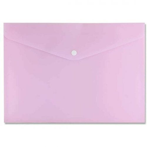 Pink Button Stud Wallet Document File