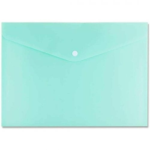 Green Button Stud Wallet Document File