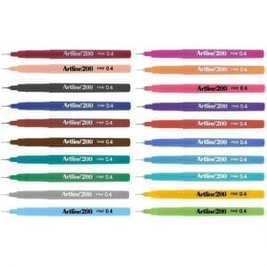 Artline 200 Technical Drawing Fineliner Pens