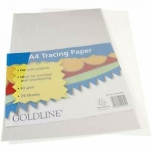 Goldline A4 Tracing Paper 63gsm
