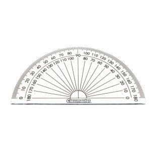 Classmaster 180 Degree Protractor Clear