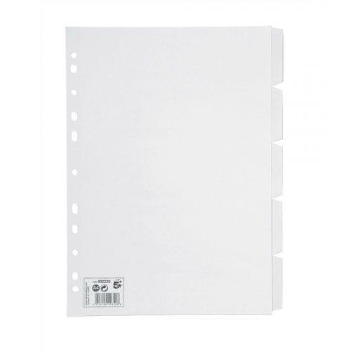 5-star-5-part-white-colour-divider