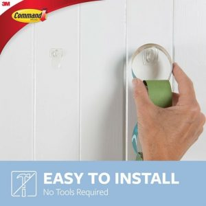 Command-Mini-Clear-Hooks-with-Clear-Strips-17006clr-install