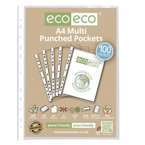 eco eco A4 Punched Pockets