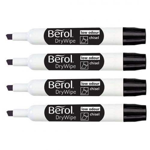 Berol Think Chisel Tip Drywipe Whiteboard Markers