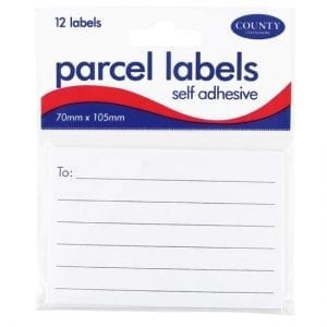 County Parcel Labels Self Adhesive