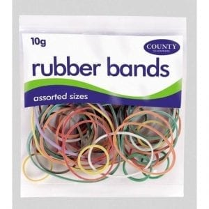 Rubber Bands Assorted Colours