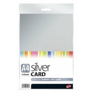 County Silver Art Card A4 270gsm