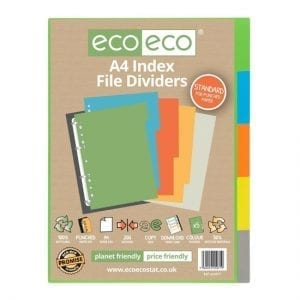 eco eco A4 Index File Dividers Tabs