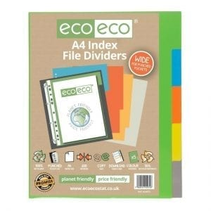 eco eco A4 Wide Index File Dividers Tabs