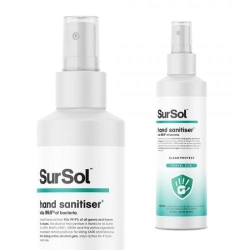SurSol Hand Sanitiser Spray, Alcohol Free, Anti-Bacterial
