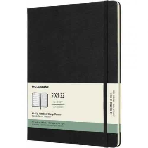 Moleskine Academic Diary 2021-22 Extra Large Week to View