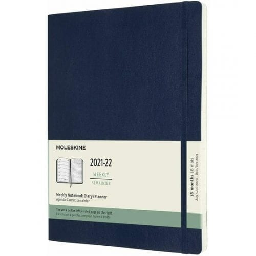 Moleskine Academic Diary Extra Large Week to View Soft Cover