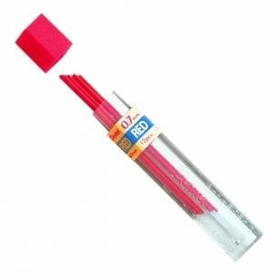 Pentel-Coloured-Lead-07mm-PPR7-Red