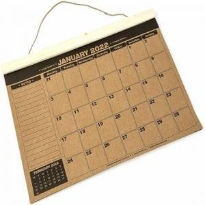A3 Academic Wall Calendar 21-22 Kraft Paper