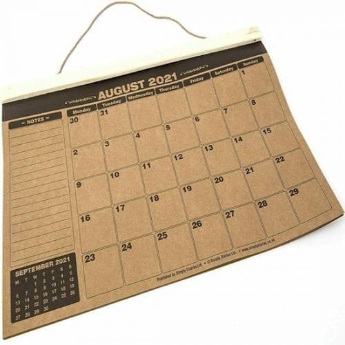 A3 Academic Wall Calendar Kraft Paper