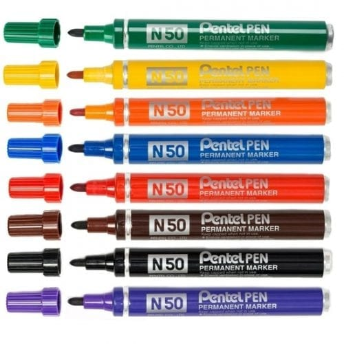 Pentel N50 Permanent Marker Pen Bullet Tip