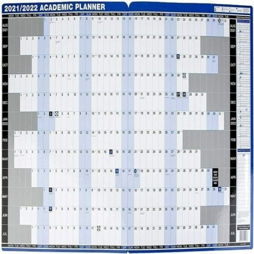 Simply A1 Academic Wall Planner 21-22