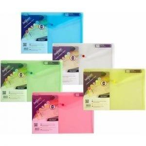 Snopake Polyfile A4+ Foolscap Press Stud Wallets