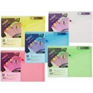 Snopake Polyfile A4 Press Stud Wallets Classic Colours