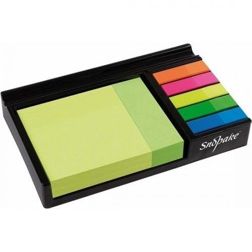 Snopake Neon Sticky Notes Desk Memo Set