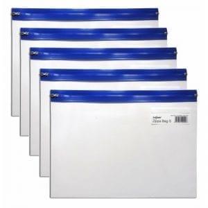 Snopake A4 Plus Blue Clear Transparent Zippa Bag