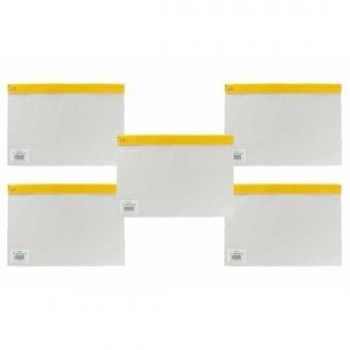Snopake A4 Plus Yellow Clear Transparent Zippa Bag