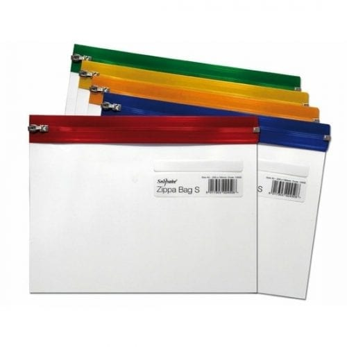 Snopake A5 Clear Transparent Zippa Bag