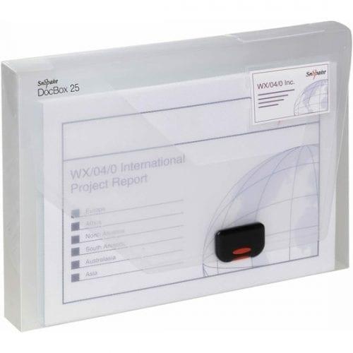 Snopake A4 Transparent Document Box 25