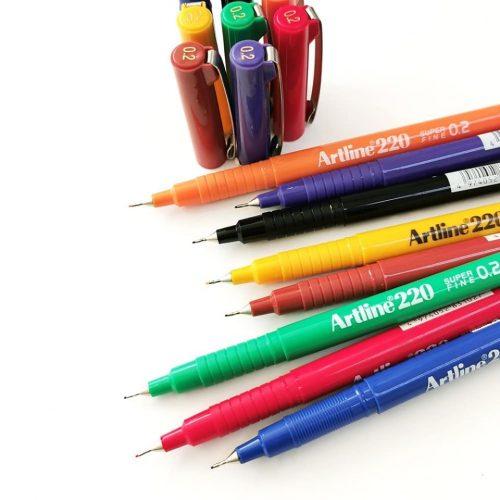 Artline-220-Fineliner-Pen-All-Colours-alt