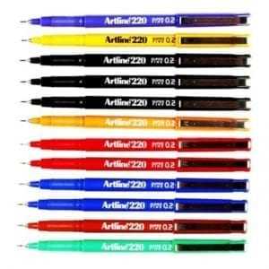 Artline-220-Fineliner-Pen-All-Colours