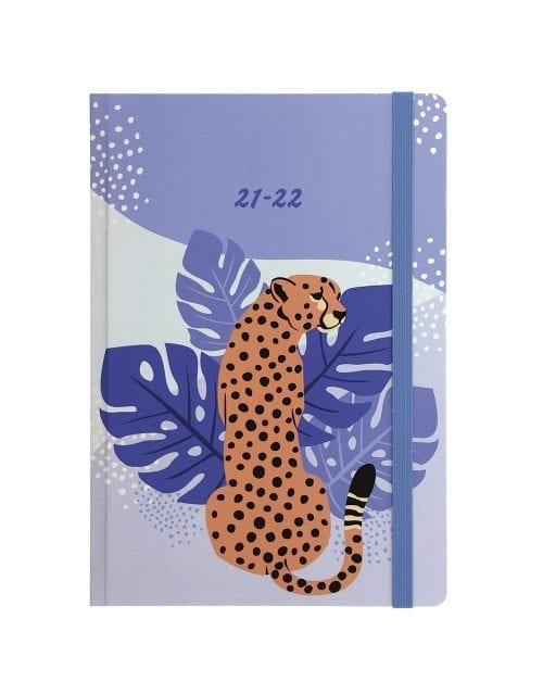 Letts-Cheetah-A5-Week-to-View-Peach
