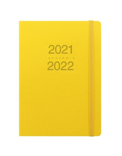 Letts-Memo-A5-Academic-Diary-Day-A-Page-Yellow