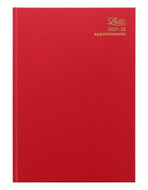 Letts-Standard-A4-Day-A-Page-Red