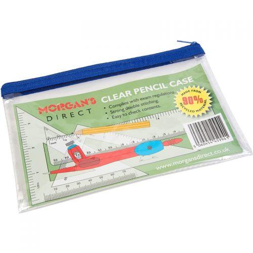 Clear-Exam-Pencil-Case-Blue-Zip