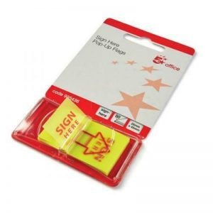 5 Star Sign Here Sticky Index Tabs Self Adhesive-01