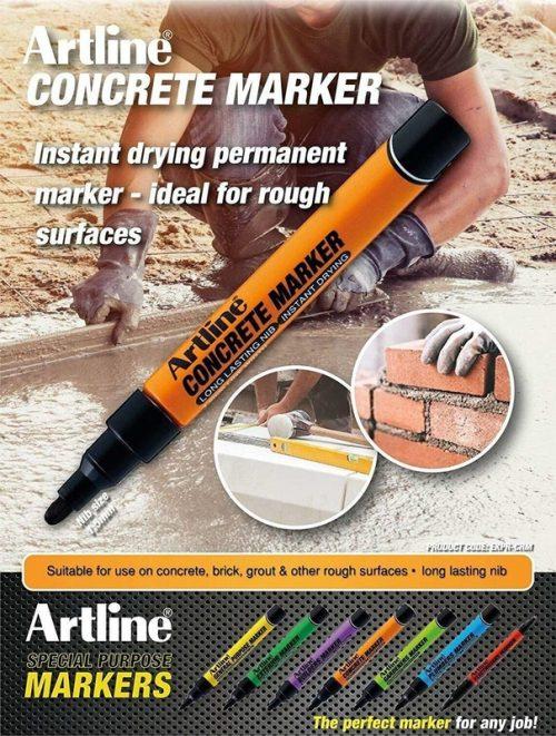 Artline Concrete Marker Pen EKPR-info