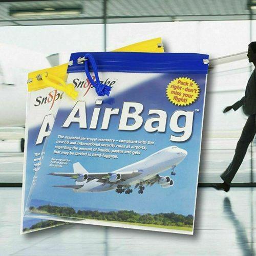 Snopake Airport Clear Travel Bags-alt