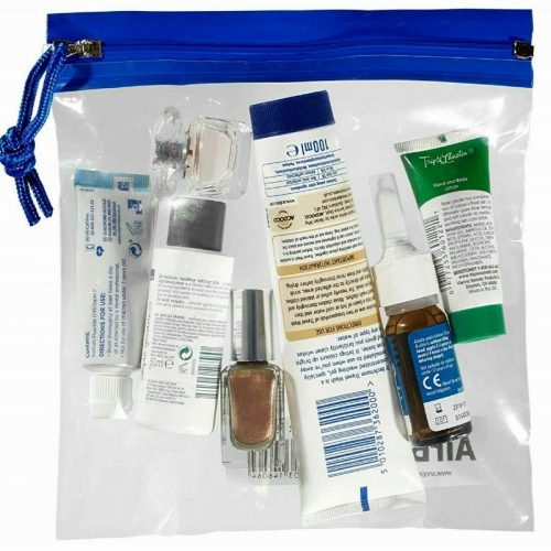 Snopake Airport Clear Travel Bags-blue