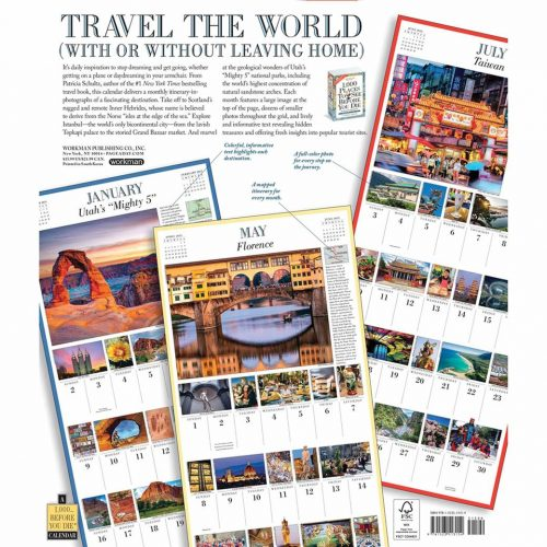 1,000 Places To See Before You Die Deluxe Calendar 2022-back