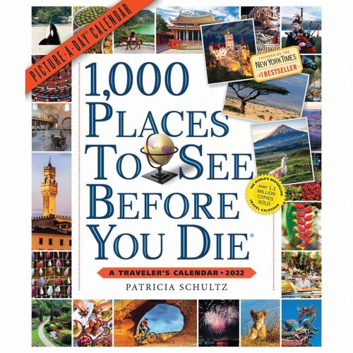 1,000 Places To See Before You Die Deluxe Calendar 2022-front