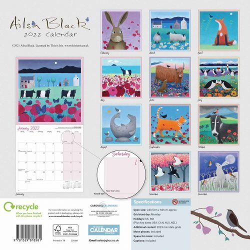 Ailsa Black Calendar 2022-back