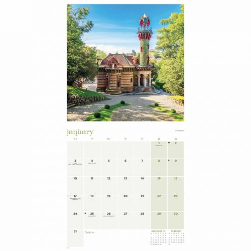 Antoni Gaudi Calendar 2022-inside