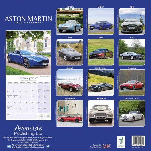 Aston Martin Calendar 2022-back