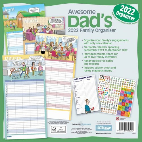 Awesome Dads Family Planner 2022-back