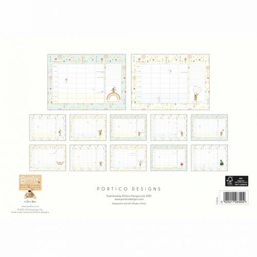 Boofle A4 Family Planner 2022-back