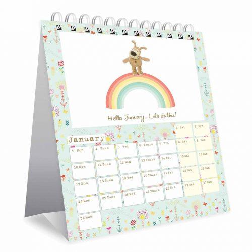Boofle Easel Desk Calendar 2022-inside