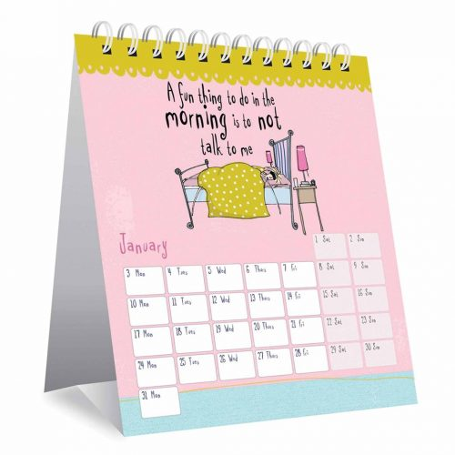 Born To Shop Easel Desk Calendar 2022-inside