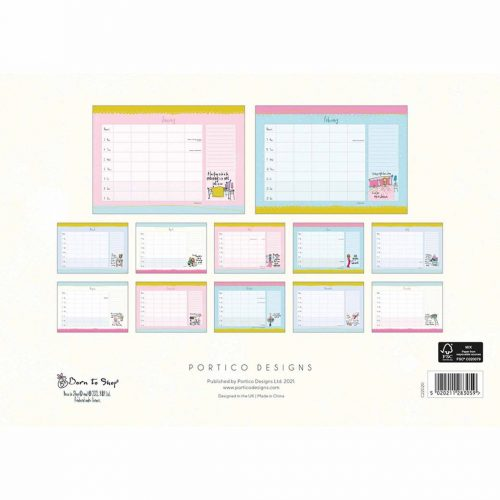 Born to Shop A4 Family Planner 2022-back