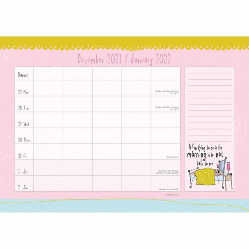 Born to Shop A4 Family Planner 2022-inside
